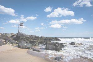 rocks on shore white overlay