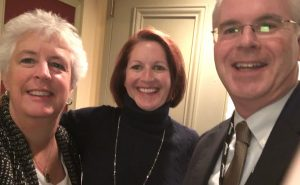 Susan Morrison, Tammy Derosier with Tom Mullooly